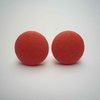 Coral Button Earrings by Bow Peep
