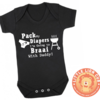 Pack my DIAPERS I'm Going to BRAAI with DADDY/Funny/ Braai baby outfit/ Novelty onesie / Baby gift / Baby Shower by Little Lion Cub Studio