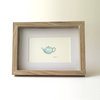 Tea time (Framed print) (pale blue) by Josephine Draws
