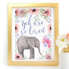 Floral Elephant Digital Art Prints - Set of 3 by Paper Ponies Boutique