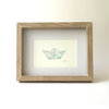 Paper dream boat (Framed print) by Josephine Draws