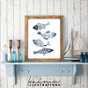 Limited Edition Patterned Fish - A4 by Kaimu Illustrations