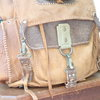 Hand stitched bovine with gemsbok leather rucksack (To order only) by Shackletons