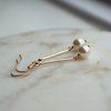 Swarovski Pearl Drop Earrings - Minimalist Bridal Jewellery - bridesmaid jewellery  by Minkykitten