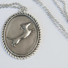 ​Pewter pendants - Hand crafted - Jumping Dog by Long Dog