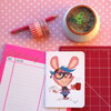 ​Rabbit blogger greeting card by Terrapin and Toad