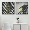 Playing With Shadows Photography Print Set | 60x60cm | Collection 4 | Home Decor | Office Decor | Wall Art | Wall Hangings | Green | Grey | White | Natural | Nature | Greenery | Minimalism | Interiors by Sonny Mo Arts