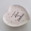 Heart platter Love & Cookies by Potsicle Ceramics