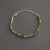 Sterling Silver and Prehnite Gemstone Bracelet  by Chongo and Wells Silver