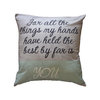 Grey stone texture pillow cover by Fingerprint Interiors