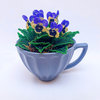 'Just my cup of tea' French Beaded Potted Arrangement by Budding Bead Creations