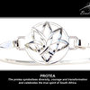 Sterling Silver BradDaShey bangle with interchangeable face piece Protea by Havilah Designer Jewellers
