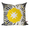 """Giant Pin"" cushion cover in sunshine and charcoal by i Spy"