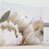 Disposable  paper placemats: QUEEN PROTEA (white) (25 In Pack) by TableArt