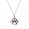 Pretty Silver Paw Print Pendant by Pretty Silver Collection by Havilah Designer Jewellers