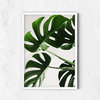 Monstera Leaf Wall Print, Tropical Print, Coastal Wall Decor, Botanical Wall, Plant Leaf Print, Botanical Leaves, Bohemian Style, Modern Art by Papaya Paradise