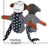 Monkey Puppet soft toy by Playtime Soap & SASofties