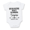 QUARANTINE wasn't so BORTING....SURPRISE! / baby onesie/PREGNANCY REVEAL Onesie/ Unisex  / Baby Announcement Idea / Baby Reveal / Baby on the way  by Little Lion Cub Studio