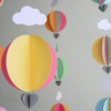 "Hot Air Balloon Baby Mobile ""Queen Tangerine""  by younghearts"