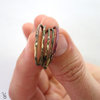 fused stack rings (set of five) by Erin Frances Creative