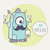 Gift Cards – Robot design by The Colour Jar