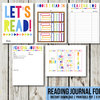 Reading Journal Kids, Book Journal Planner, A4 Size, Reading Log, School Book, Printable by EyePop Designs