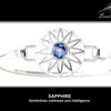 Sterling Silver BradDaShey bangle with interchangeable face piece September by Havilah Designer Jewellers