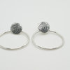 Protea stud Hoops by Natasha Wood Jewellery