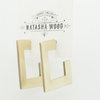Geometric style square studs by Natasha Wood Jewellery