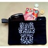 """ She believed she could, so she did "", embroidered zipper pouch / purse. by Thats so ME!"