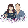 Custom Digital Couple Portrait Illustration  by Polkadot Box