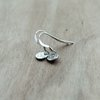 Tiny Silver Earrings - Sterling Silver Drop - Disc - Small - Christmas Gift  by Minkykitten