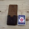 Crazy Horse Leather Pouch for Single Deck Playing Cards by Vincent Leather