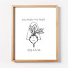 You make my heart skip a BEET Print by ART By Liesl Ahlers