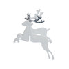 Silver Christmas - Glass Decoration - Reindeer - Silver Glitter by Ginger Ray