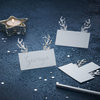 Silver Christmas - Place Card - Silver Glitter Antler by Ginger Ray