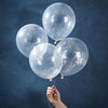 "Silver Christmas - Confetti Balloon - 12"" - Silver Glitter  by Ginger Ray"