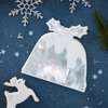 Silver Christmas - Christmas Pudding Napkin - Foiled - Silver by Ginger Ray