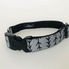 S Small Grey Arrows Dog Collar by Willow Pet Accessories