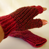 Spicy Red Half Finger Gloves by Fiddlesticks