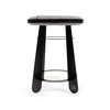 Soft Stool - Black with Grey Felt Seat by Leg Studios