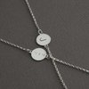 Bridesmaid's Bracelets - Sterling Silver Initial and Date stamped. by Chongo and Wells Silver