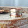 Sterling Silver Rustic Stack Rings by megan goldner designs