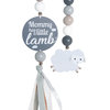 Natural Dingle Dangle Mobile Toy Set - Stoney Sheep by Ruby Melon