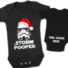 Star Wars Storm Pooper Christmas edition -  Christmas Baby Grow - Baby bodyvest- Storm Pooper - The Dark Side Star Wars Onesie - Storm Trooper Onesie - The Empire Strikes Back - Unisex Onesie - Christmas baby outfit by Little Lion Cub Boutique