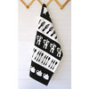 "Black ""Kitchen Stripes"" Tea Towel by i Spy"