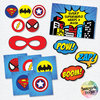 Superhero Party Printables by Sunnyside Designs