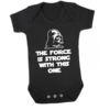 Star Wars Baby Onesie - The Force is strong with this one - Baby Grow - Baby bodyvest- The Force is strong with this one - The Empire Strikes Back - Unisex Onesie - Baby Shower Gift  by Little Lion Cub Studio