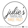 Three Fruit Marmalade (250g) by Julie's Marmalades