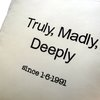 Truly Madly Deeply .... embroidered cushion by Pillow Talk